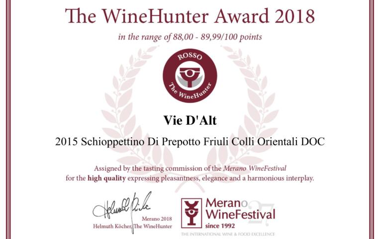 Premio The WineHunter Award
